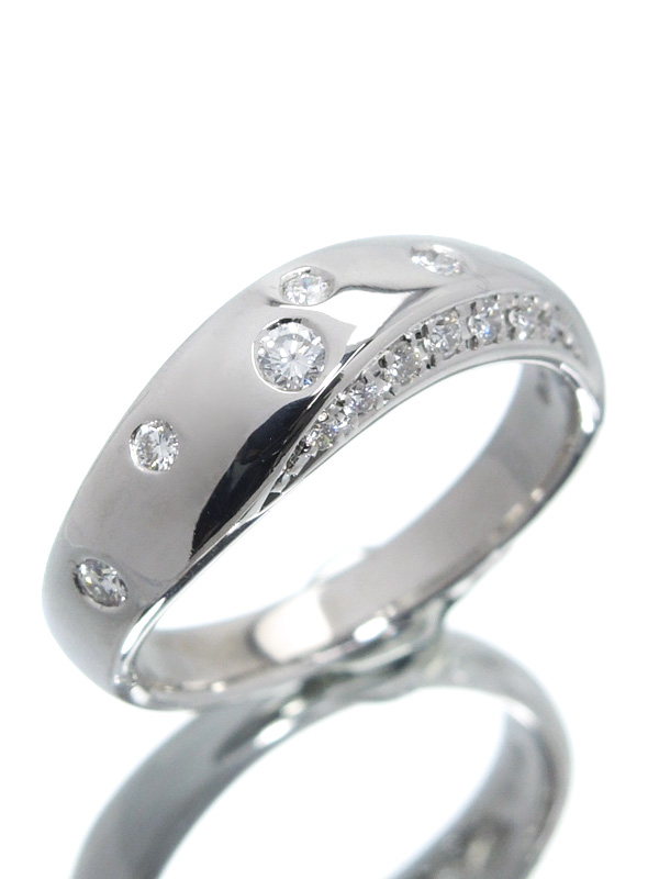 【TASAKI】【仕上済】タサキ『K18WGリング ダイヤモンド0.20ct』10.5号 1週間保証【中古】b03j/h11SA