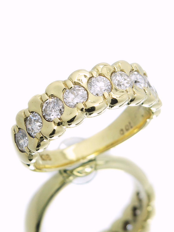 セレクトジュエリー『K18YGリング ダイヤモンド1.00ct』11号 1週間保証【中古】b01j/h02A