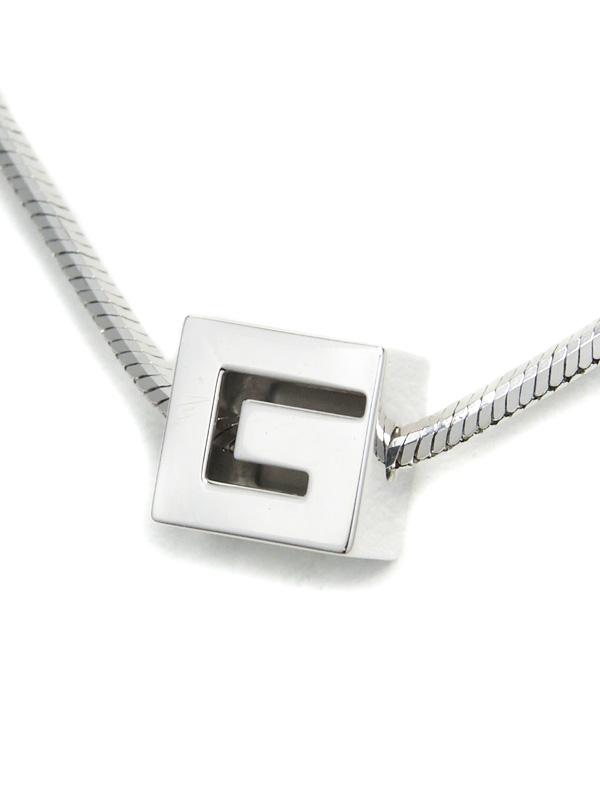 【GUCCI】グッチ『Gロゴ キューブ ネックレス』1週間保証【中古】b02j/h19A