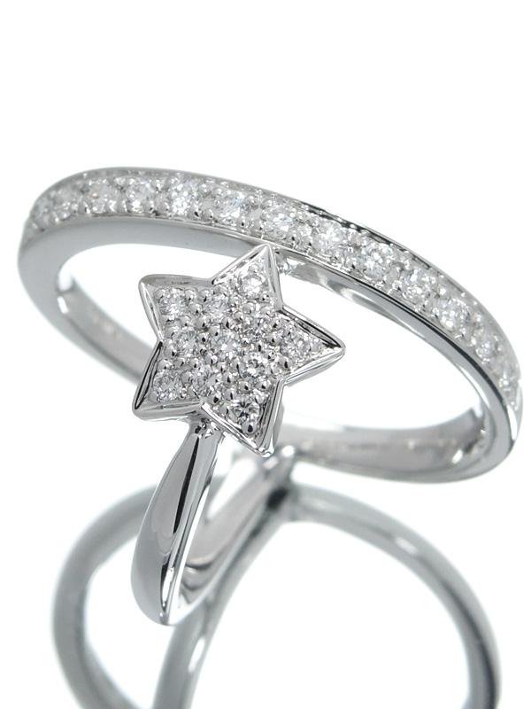 【CESTA DI KARATI】セスタディカラッチ『K18WGリング ダイヤモンド0.47ct スターモチーフ』12.5号 1週間保証【中古】b05j/h21A