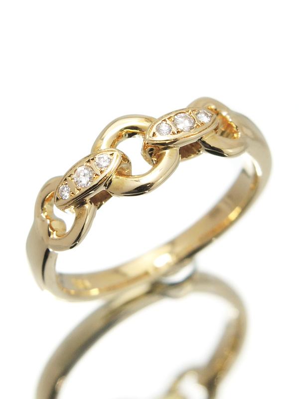 【4℃】ヨンドシー『K18YGリング ダイヤモンド』10号 1週間保証【中古】b01j/h02A