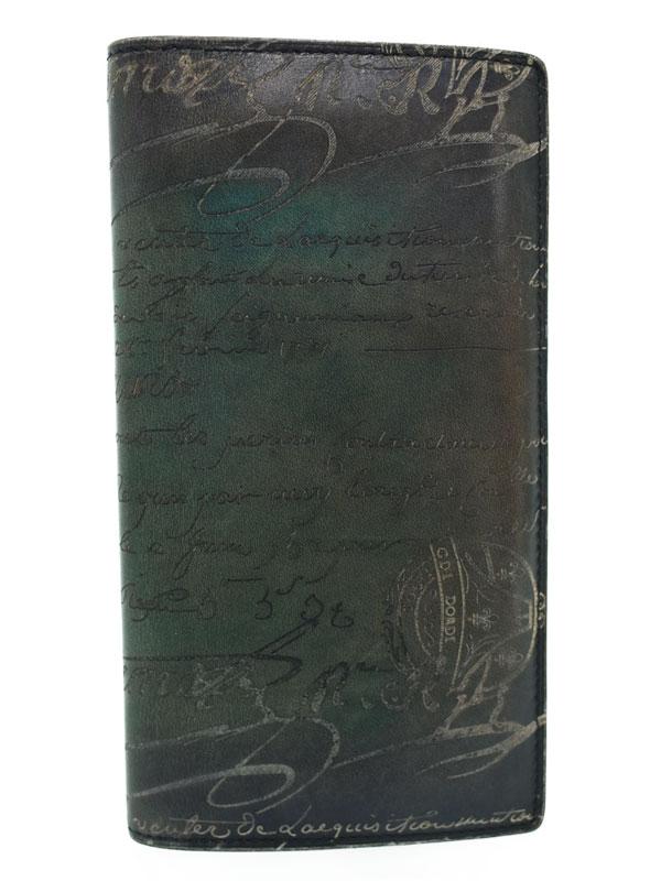 7de27aee88da Berluti】ベルルッティ『EBENE 二つ折り長財布』メンズ 1週間保証【中古 ...