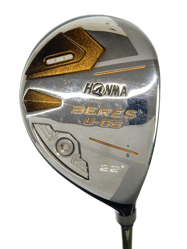 【HONMA】本間ゴルフ『BERES U-06 ユーティリティ 22° フレックスSR』右利き ゴルフクラブ 1週間保証【中古】b02e/h03B