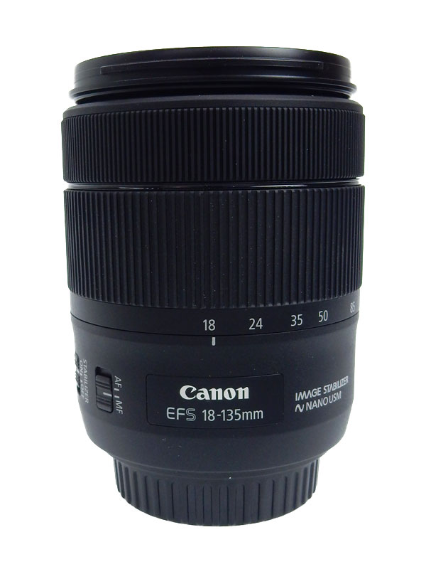 【Canon】キヤノン『EF-S18-135mm F3.5-5.6 IS USM』EF-S18-135ISUSM デジタル一眼レフカメラ用レンズ 1週間保証【中古】b02e/h03AB