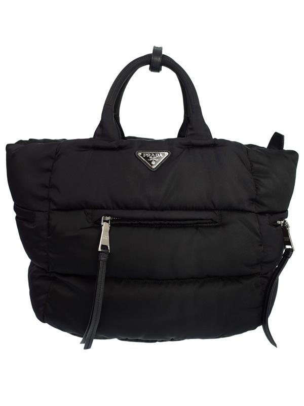 【PRADA】プラダ『テスートボンバー ハンドバッグ』メンズ 1週間保証【中古】b02b/h21B