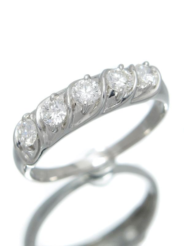 セレクトジュエリー『PT900リング ダイヤモンド0.90ct』15号 1週間保証【中古】b06j/h01A