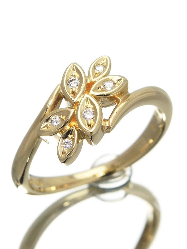 【TASAKI】【仕上済】タサキ『K18YGリング ダイヤモンド0.04ct』9.5号 1週間保証【中古】b06j/h18SA