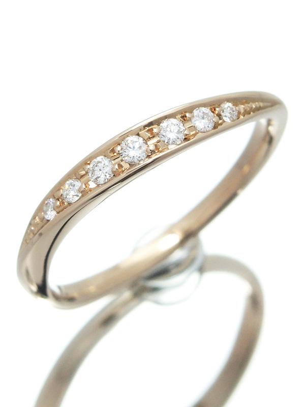 【4℃】ヨンドシー『K18PGリング ダイヤモンド』12号 1週間保証【中古】b01j/h02A