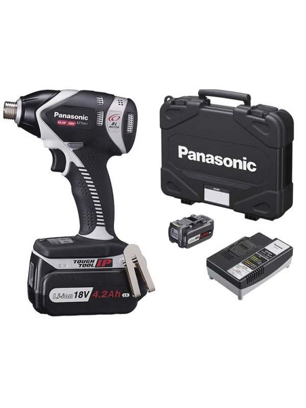 【Panasonic】パナソニック『充電インパクトドライバー』EZ75A1LS2G-H グレー 18V 14.4V対応 4.2Ah×2 充電器【新品】b00t/N