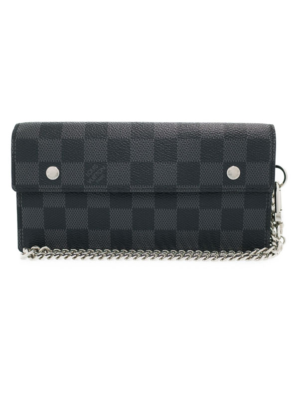 fd1b9a2009a6 楽天市場】【LOUIS VUITTON】【チェーン付】ルイヴィトン『ダミエ グラ ...