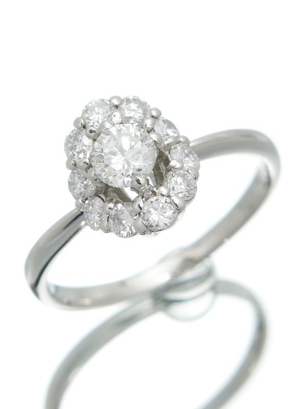 【仕上済】【ソーティング】セレクトジュエリー『PT900リング ダイヤモンド0.341ct/G/SI-1/POOR 0.44ct』12号 1週間保証【中古】b06j/h18SA