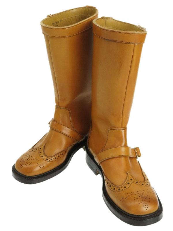 【Tricker's】【底張り済】トリッカーズ『ウィングチップブーツ size5 1/2』L7122 レディース 1週間保証【中古】b01b/h06SA