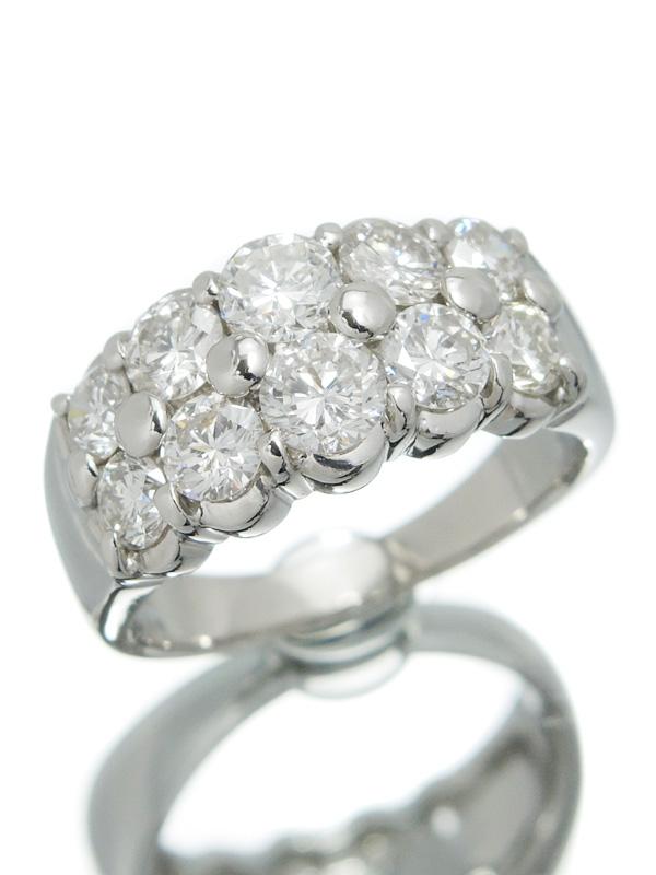 【仕上済】セレクトジュエリー『PT900リング ダイヤモンド2.07ct』12号 1週間保証【中古】b03j/h20SA