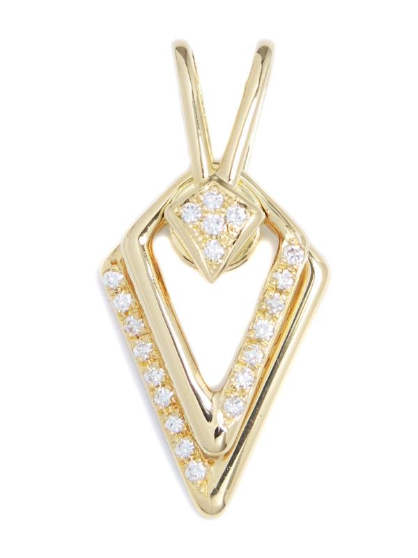 【WALTHAM】ウォルサム『K18YGペンダントトップ ダイヤモンド スウィングモチーフ』1週間保証【中古】b02j/h03A
