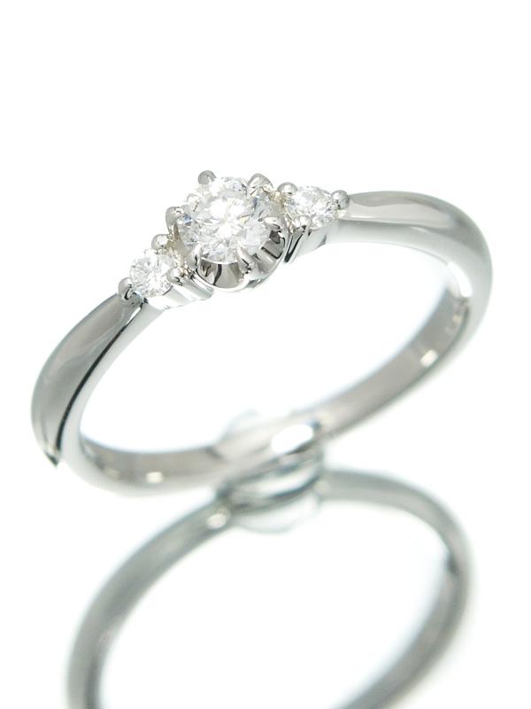 【4℃】【仕上済】ヨンドシー『PT950リング ダイヤモンド0.168ct』8号 1週間保証【中古】b02j/h03SA