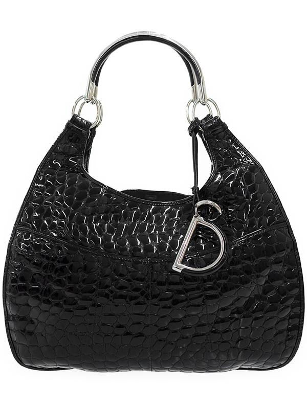 【Christian Dior】クリスチャンディオール『クロコ型押し ショルダーバッグ』レディース 1週間保証【中古】b03b/h13B