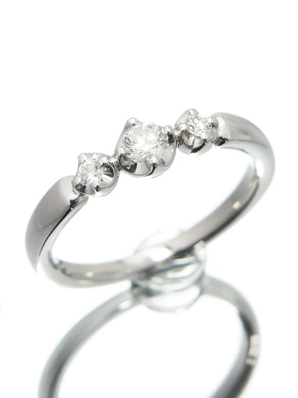 【4℃】【仕上済】ヨンドシー『PT950リング ダイヤモンド』7号 1週間保証【中古】b06j/h17SA