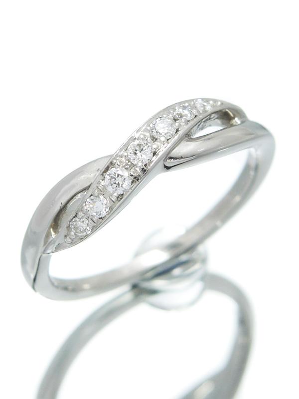 【4℃】【仕上済】ヨンドシー『PT950リング ダイヤモンド』10号 1週間保証【中古】b06j/h17SA