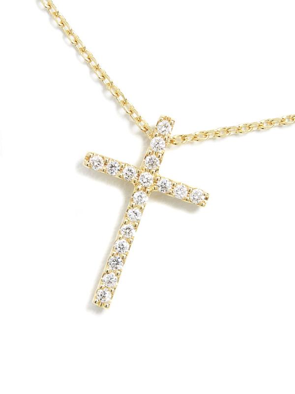 【Star Jewelry】【仕上済】スタージュエリー『ダイヤモンド クロス ネックレス』1週間保証【中古】b06j/h17SA