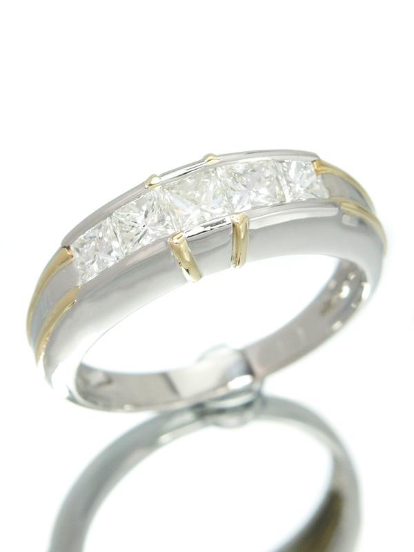 【仕上済】セレクトジュエリー『PT900/K18YGリング ダイヤモンド1.01ct』15号 1週間保証【中古】b01j/h12SA