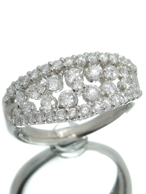 セレクトジュエリー『PT900リング ダイヤモンド1.47ct』15号 1週間保証【中古】b06j/h17A