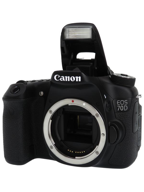 【Canon】キヤノン『EOS 70Dボディー』EOS70DBODY APS-C 2020万画素 バリアングル Wi-Fi フルHD動画 デジタル一眼レフカメラ 1週間保証【中古】b02e/h19AB