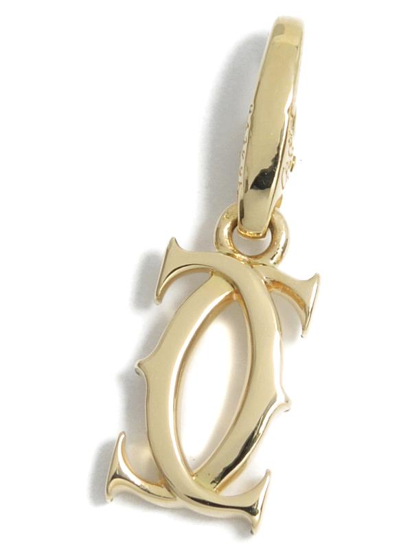【Cartier】【仕上済】カルティエ『K18YGチャーム 2Cモチーフ』ペンダントトップ 1週間保証【中古】b03j/h06SA