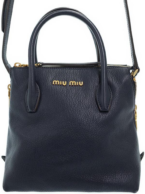 【MIUMIU】ミュウミュウ『マドラス 2WAYハンドバッグ』5BA003 レディース 2WAYバッグ 1週間保証【中古】b01b/h02AB