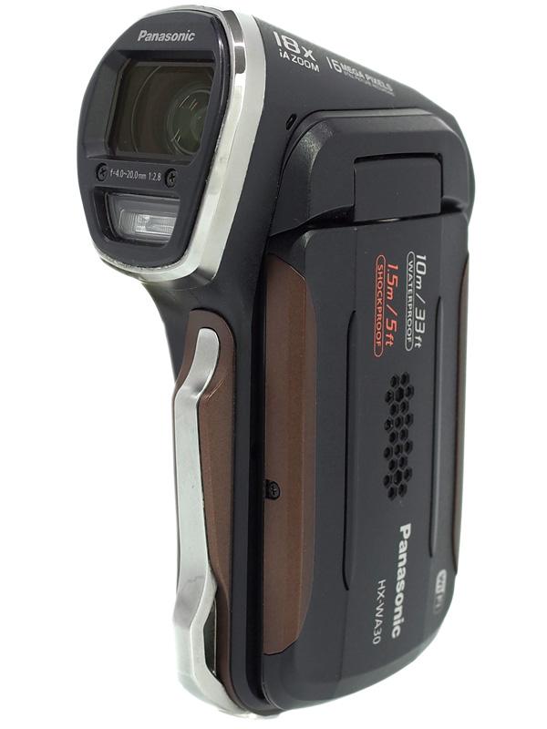 【Panasonic】パナソニック『デジタルムービーカメラ』HX-WA30-K ブラック 防水 フルハイビジョン ビデオカメラ 1週間保証【中古】b03e/h14AB