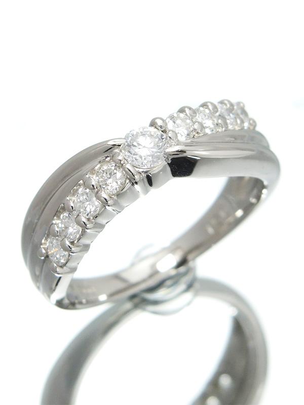 【仕上済】セレクトジュエリー『PT900リング ダイヤモンド0.51ct』10.5号 1週間保証【中古】b01j/h08SA