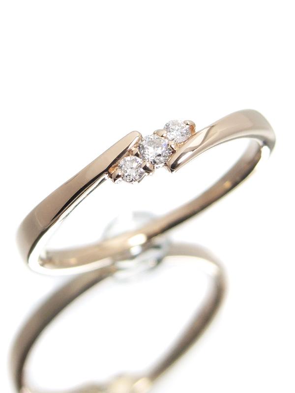 【Samantha Tiara】サマンサティアラ『K18PGリング ダイヤモンド0.07ct』9号 1週間保証【中古】b01j/h10A