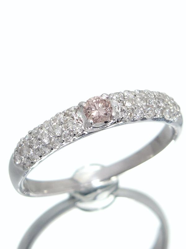 【ソーティング】【仕上済】セレクトジュエリー『PT900リング ダイヤモンド0.087ct/FANCY ORANGY PINK/SI-2』11.5号 1週間保証【中古】b06j/h17SA