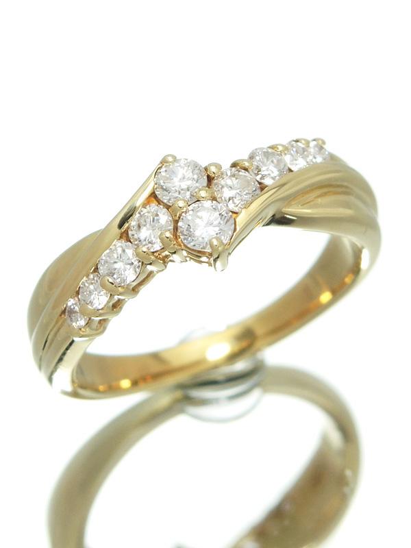セレクトジュエリー『K18YGリング ダイヤモンド0.50ct』10号 1週間保証【中古】b01j/h22A