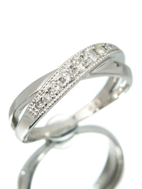 【仕上済】セレクトジュエリー『PT900リング ダイヤモンド0.25ct』13号 1週間保証【中古】b01j/h02SA