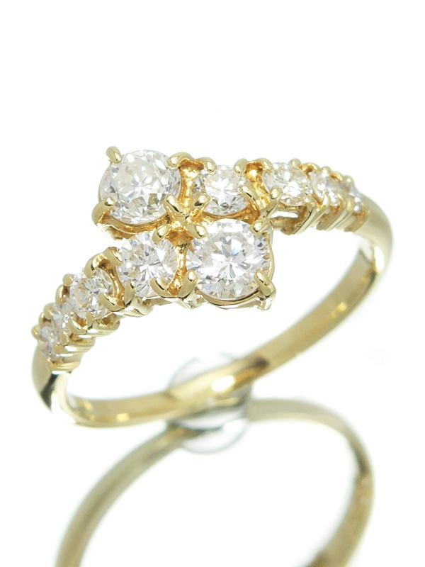 【仕上済】セレクトジュエリー『K18YGリング ダイヤモンド1.04ct』13号 1週間保証【中古】b01j/h17SA