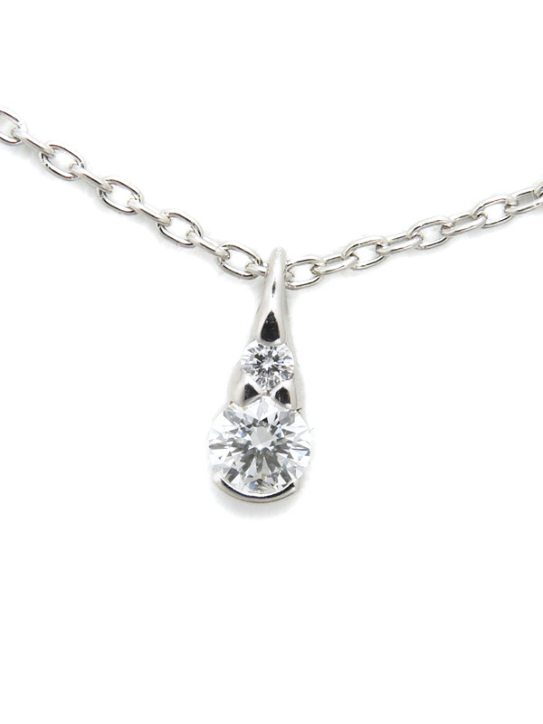【Star Jewelry】スタージュエリー『PT950ネックレス ダイヤモンド0.09ct』1週間保証【中古】b06j/h18A