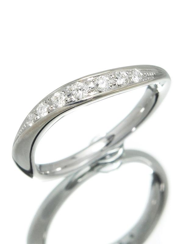 【4℃】【仕上済】ヨンドシー『K18WGリング 7Pダイヤモンド』8号 1週間保証【中古】b02j/h19SA