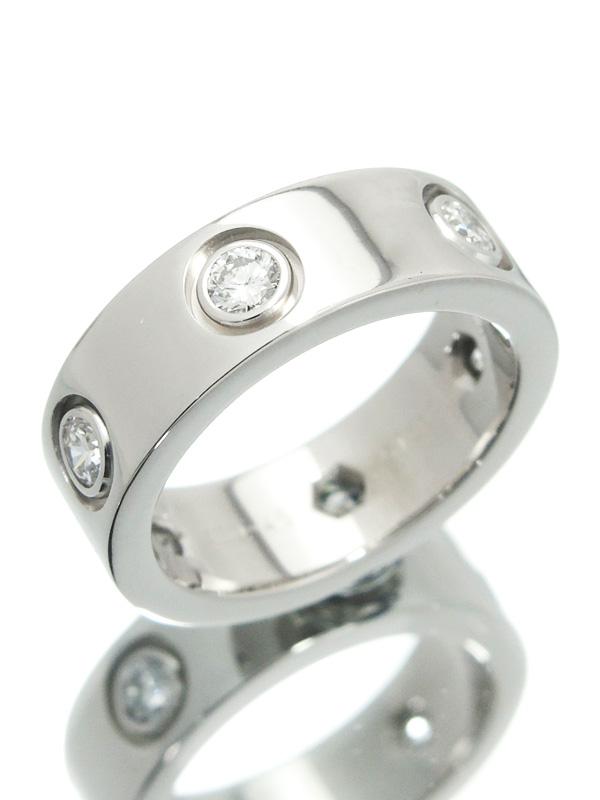 【Cartier】【仕上済】カルティエ『ラブリング フルダイヤモンド』5号 1週間保証【中古】b03j/h11SA