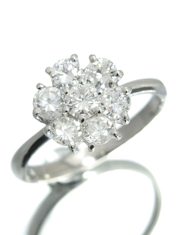セレクトジュエリー『PT900リング ダイヤモンド1.00ct フラワーモチーフ』12号 1週間保証【中古】b06j/h17A