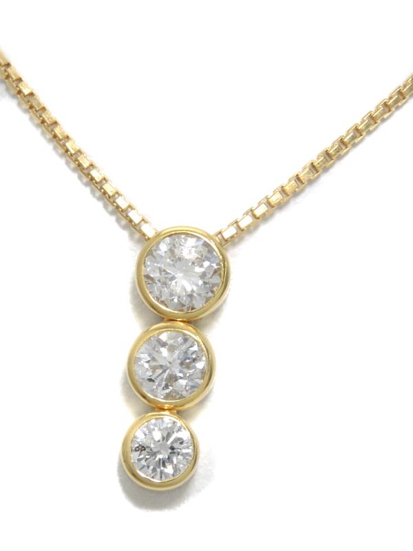 セレクトジュエリー『K18YGネックレス ダイヤモンド1.04ct』1週間保証【中古】b06j/h17A
