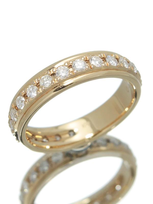セレクトジュエリー『K18PGリング ダイヤモンド0.70ct フルエタニティ』11号 1週間保証【中古】b01j/h08A