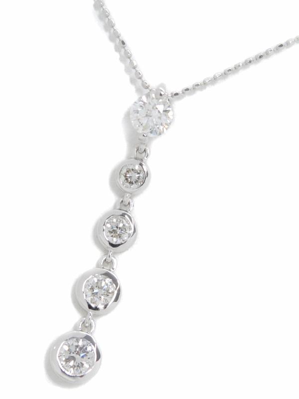 【ソーティング】セレクトジュエリー『K18WGネックレス ダイヤモンド1.14ct』1週間保証【中古】b06j/h17A