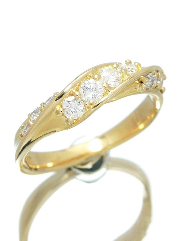 セレクトジュエリー『K18YGリング ダイヤモンド0.50ct』11号 1週間保証【中古】b01j/h04A