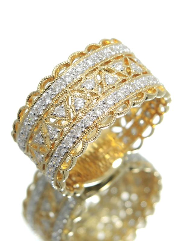 セレクトジュエリー『K18YGリング ダイヤモンド0.83ct』11.5号 1週間保証【中古】b01j/h02A