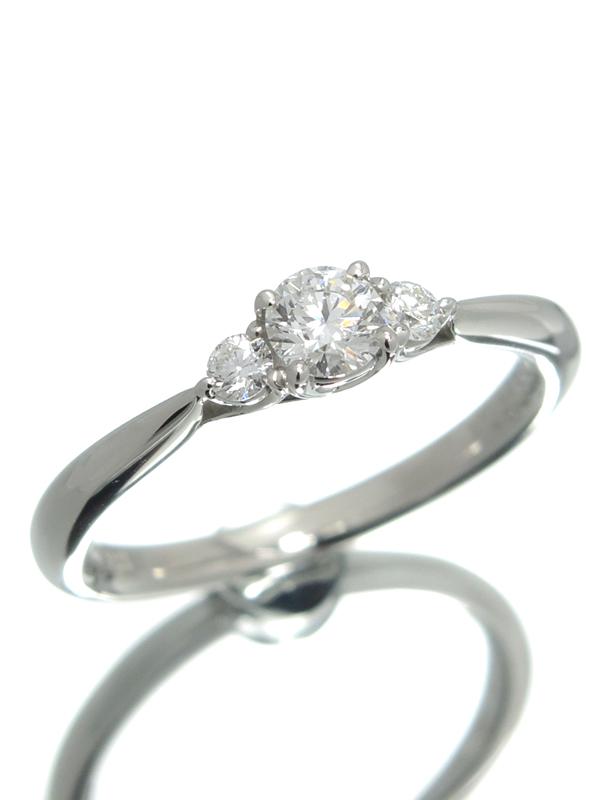 【LAZARE KAPLAN DIAMONDS】【鑑定書】【仕上済】ラザールキャプラン『PT950リング 1Pダイヤモンド0.20ct/F/VS-2 0.08ct』10号 1週間保証【中古】b01j/h22SA