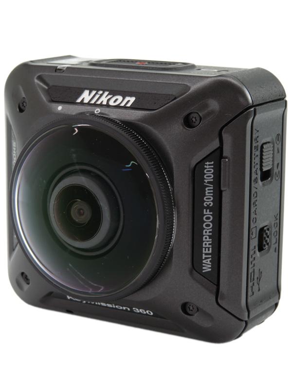 【Nikon】ニコン『KeyMission 360』2389万画素 画角360° 4K動画 Wi-Fi 防水 耐衝撃 防塵 アクションカメラ 1週間保証【中古】b03e/h06AB