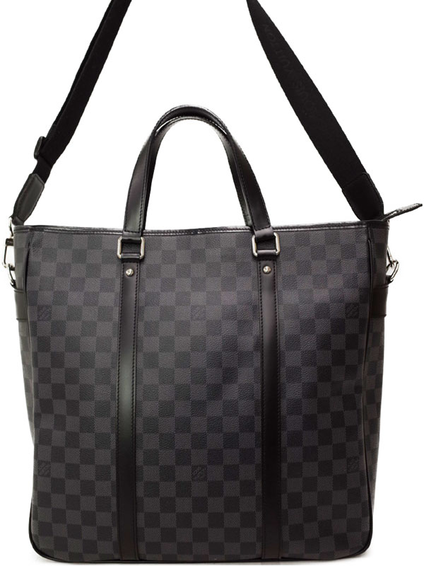 【LOUIS VUITTON】ルイヴィトン『ダミエ グラフィット タダオ』N51192 メンズ 2WAYバッグ 1週間保証【中古】b03b/h12A