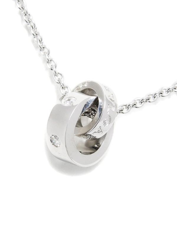 【BVLGARI】ブルガリ『ブルガリブルガリ 5Pダイヤモンド ペンダント ネックレス』1週間保証【中古】b06j/h17A