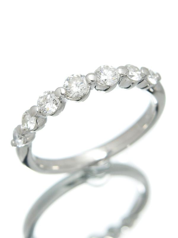 セレクトジュエリー『PT900リング 7Pダイヤモンド0.518ct』11号 1週間保証【中古】b06j/h17A