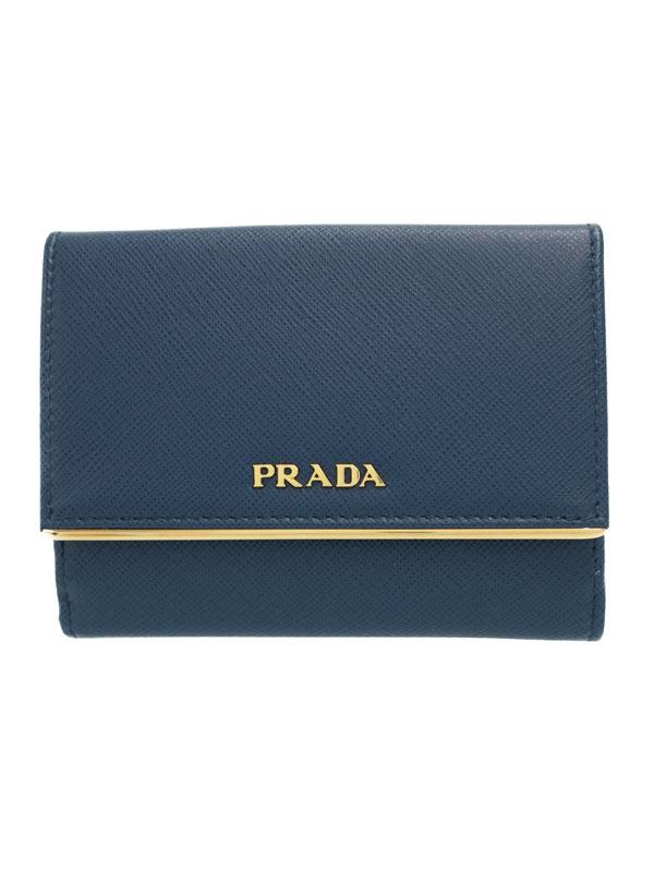 【PRADA】プラダ『Wホック短財布』1MH523 レディース 1週間保証【中古】b02b/h03S